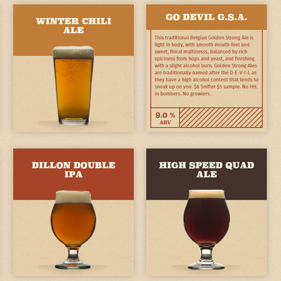 Dillon Dam Brewery Beer Cards