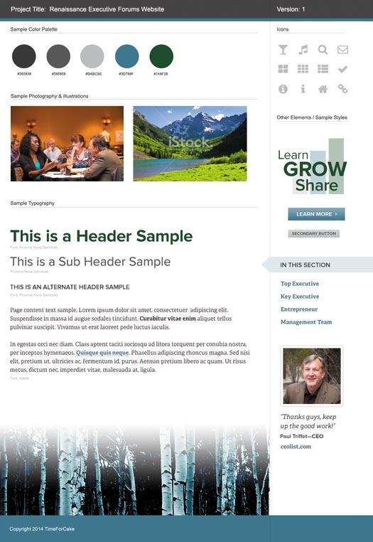 custom website moodboard design