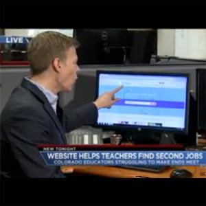 screenshot of website featured on TV news