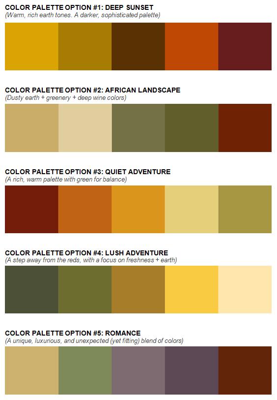 web design color palette options