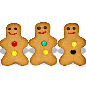 happy gingerbread man cookies