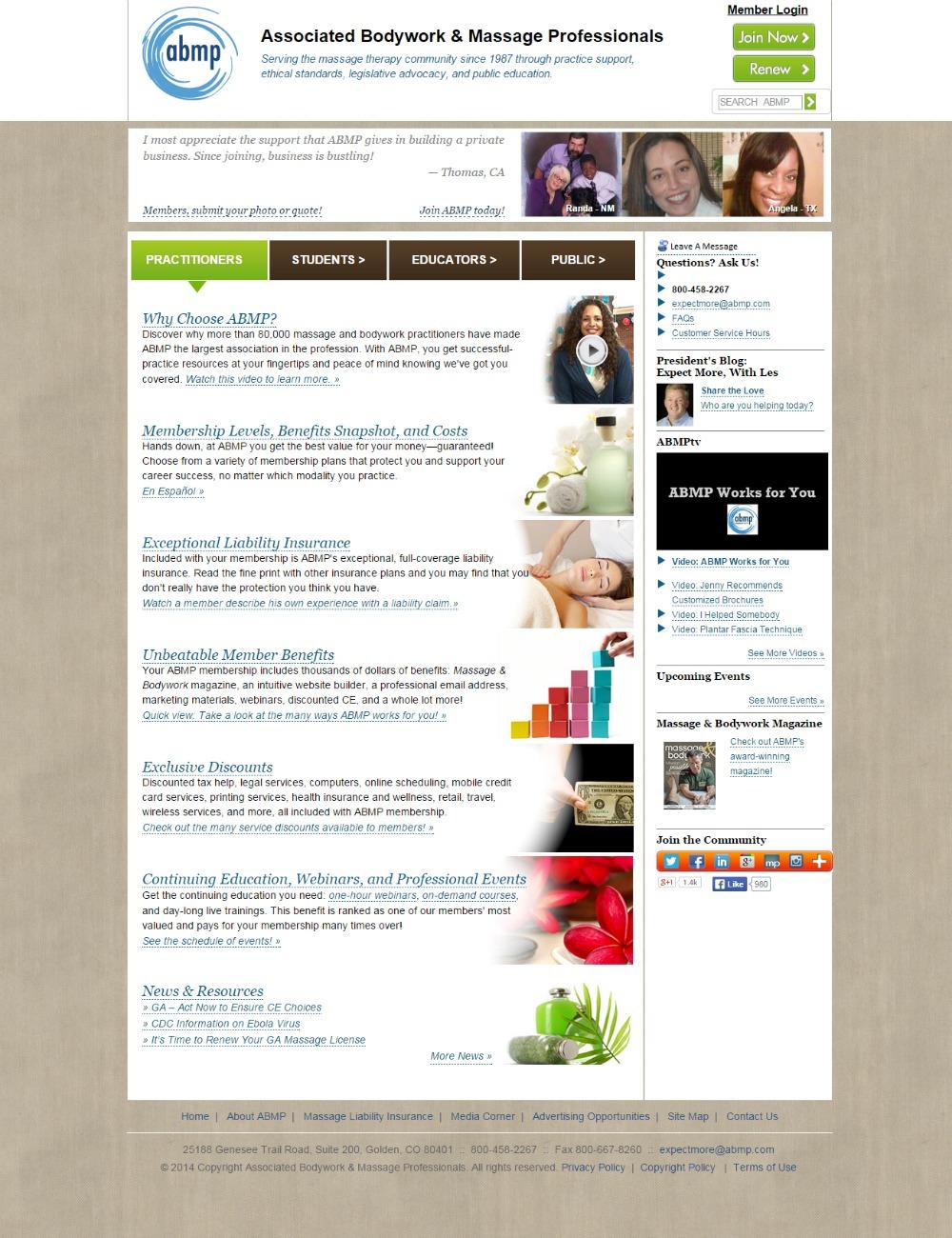 Denver Colorado massage website redesign