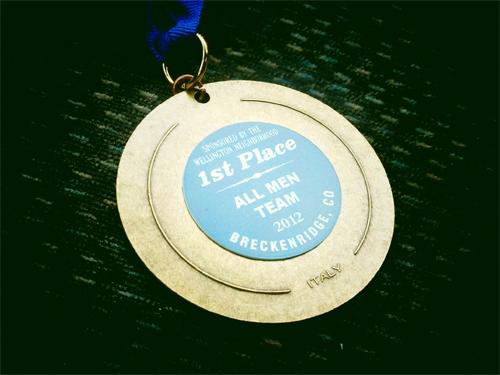 firecracker 50 mountain bike race first place medal