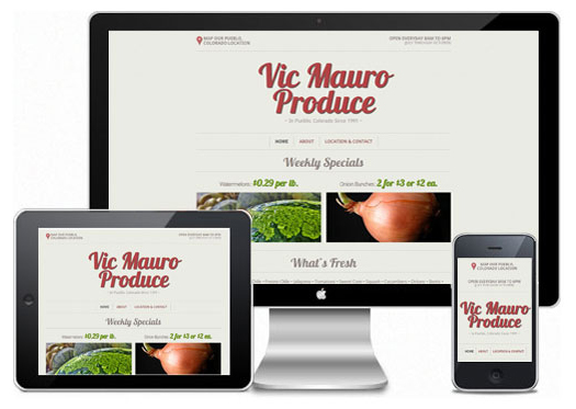 Vic Mauro Produce Stand Responsive Mini-Website Showcase