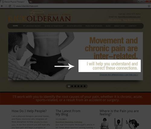 screenshot of Denver business web site