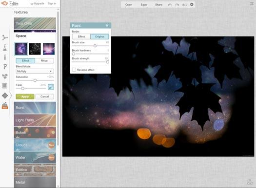 screenshot of picmonkey interface