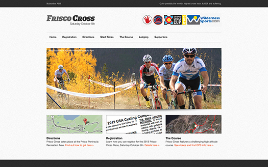 View of responsive website on a desktop