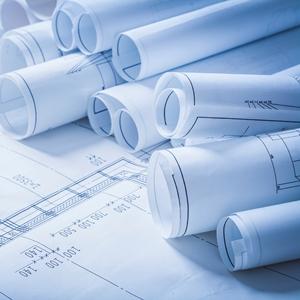 Many Rolls of Blueprints