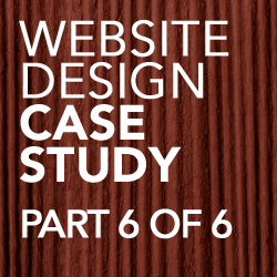 website design case study part 6 of 6