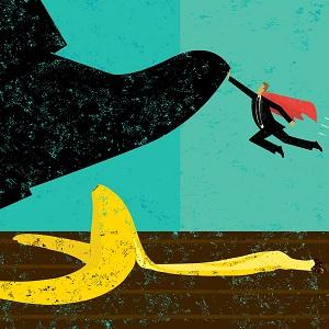 Small Hero Stops a Precarious Step