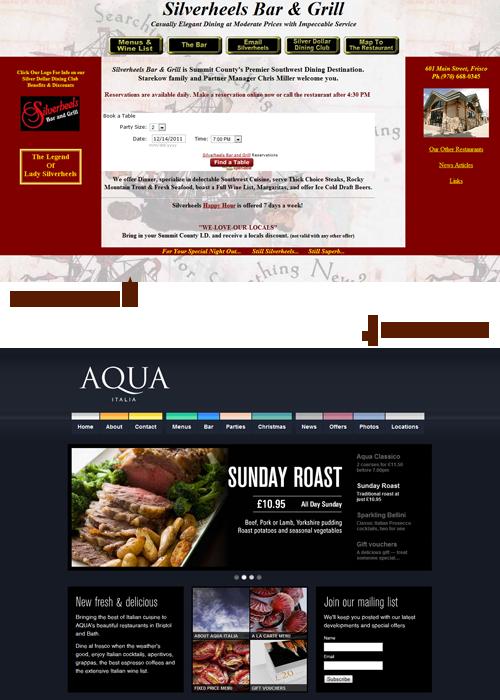 Two restaurant websites