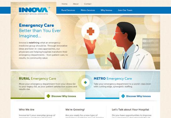 Web design screenshot for Colorado emergency medical associates group
