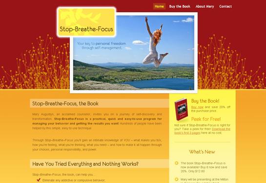 Colorado author book website screenshot